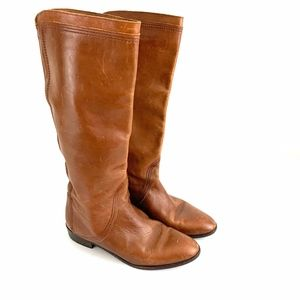Pappagallo Leather Riding Boots Brown Women Sz 9